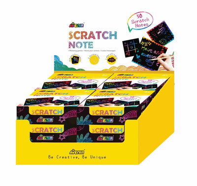Avenir - Scratch Note Books (Display x 12)