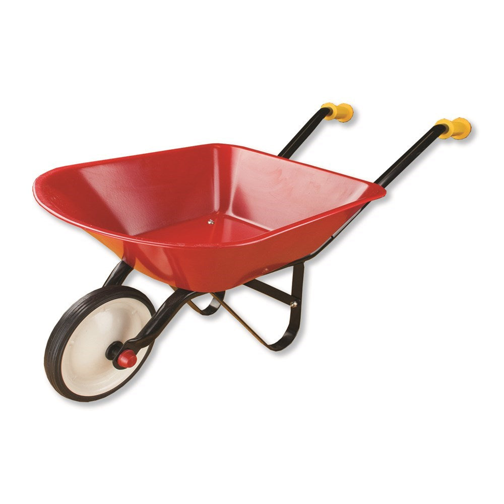 Johnco -Red Metal Wheel Barrow