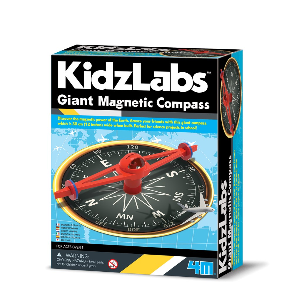 4M - KidzLabs - Giant Magnetic Compass