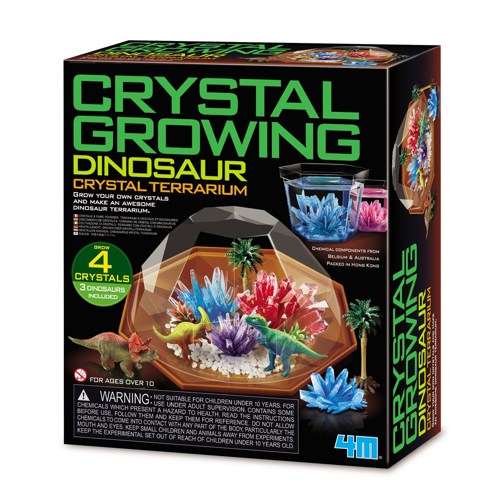 4M - Crystal Growing - Dinosaur Crystal Terrarium
