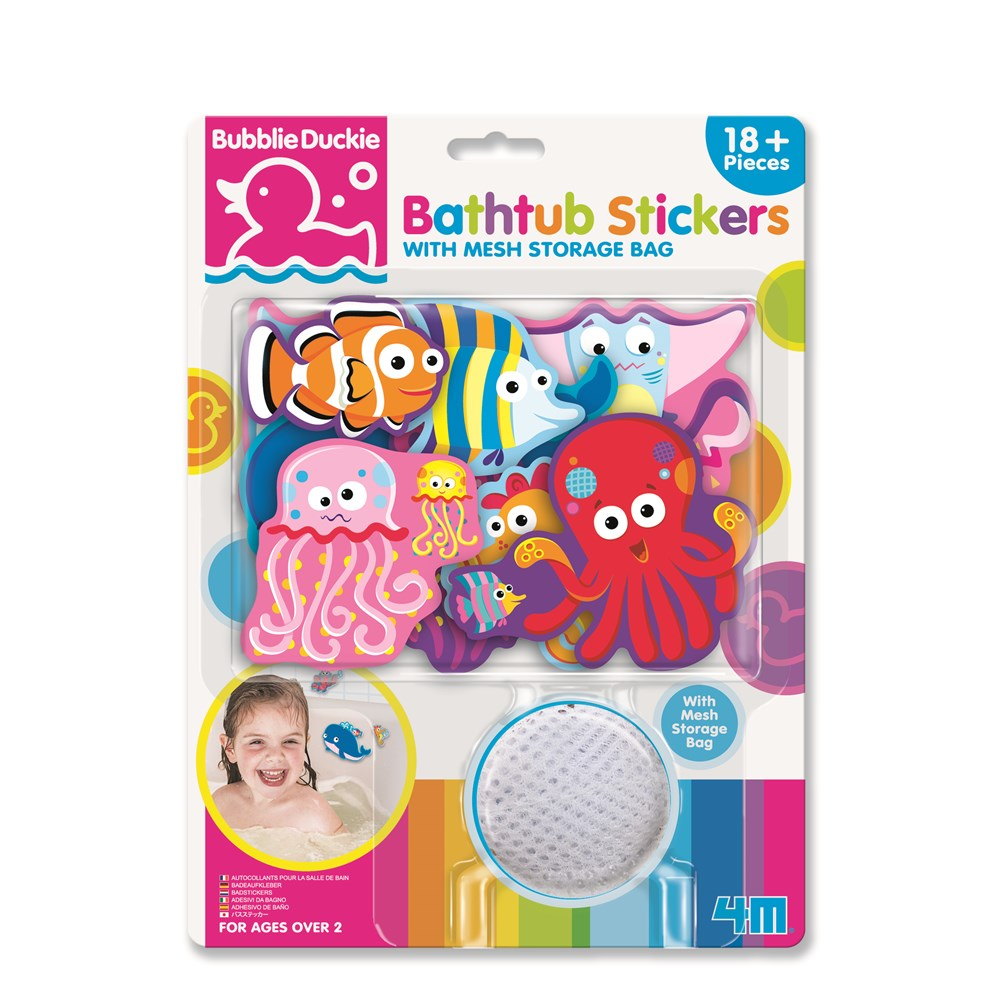 4M - BubblieDuckie - Bathtub Stickers - Sea Life