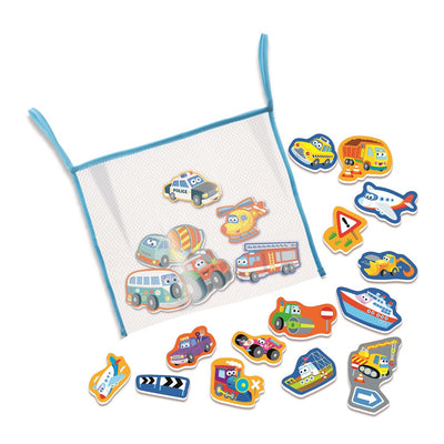 4M - BubblieDuckie Bathtub Stickers - Transportation
