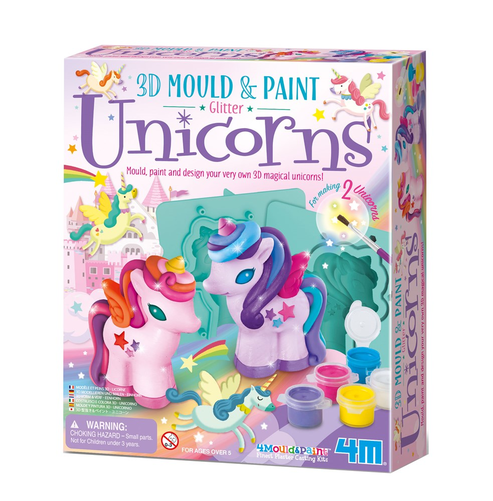 4M - Mould & Paint - 3D Glitter Unicorns