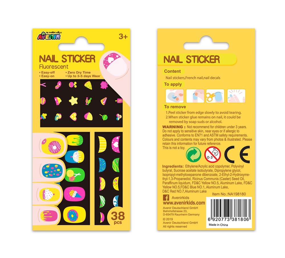 Avenir - Nail Stickers - Fluorescent Sweet Treats