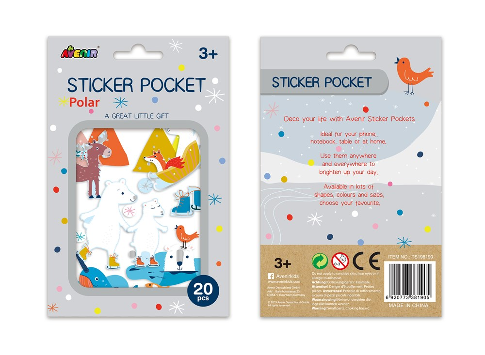 Avenir - Sticker Pocket - Polar