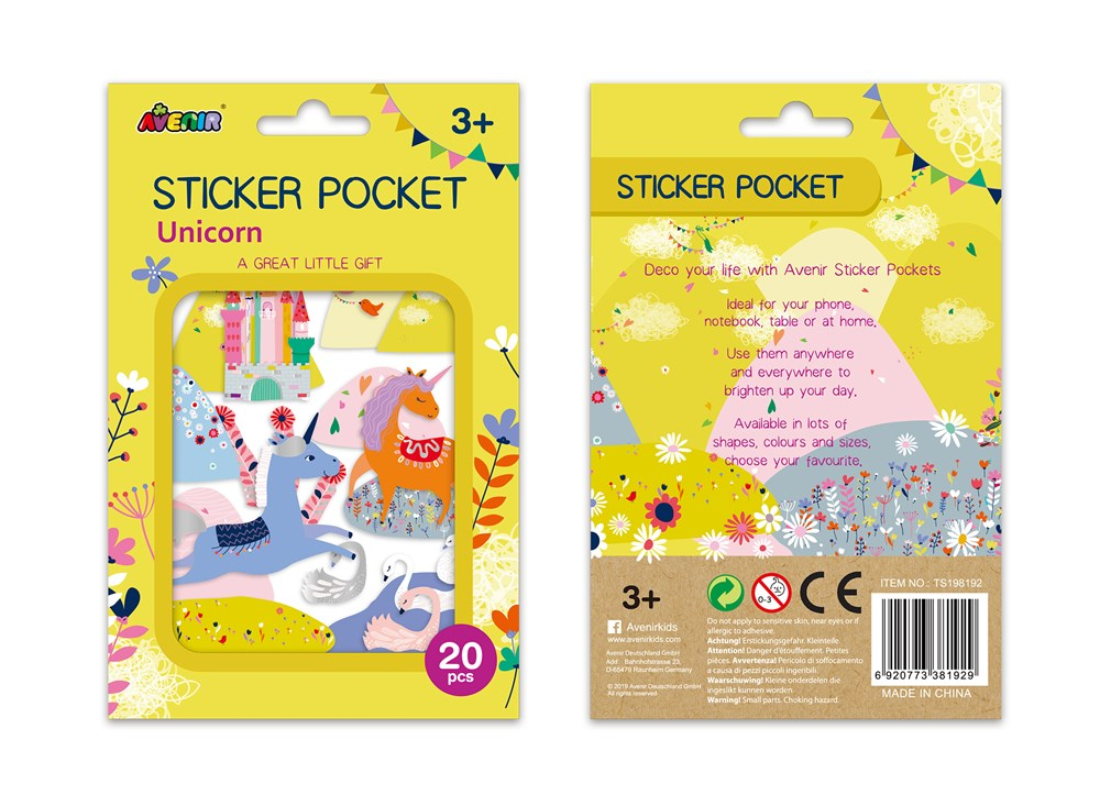 Avenir - Sticker Pocket - Unicorn
