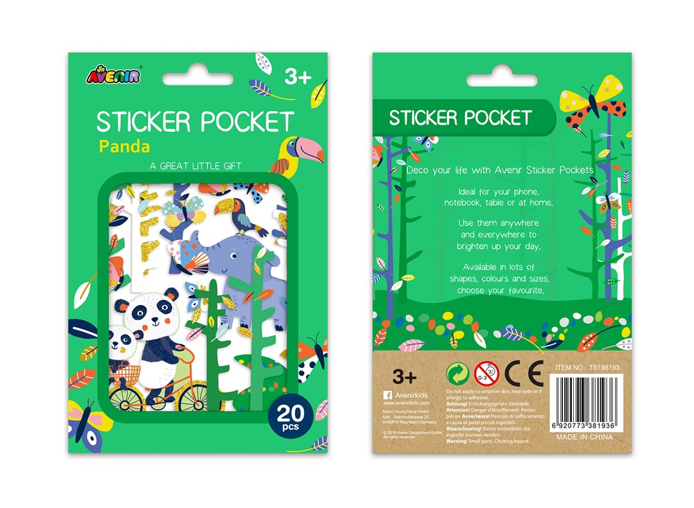 Avenir - Sticker Pocket - Panda