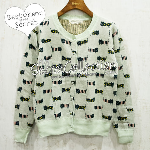 Cardigan Rajut Kucing Knit & Co - Apple Green