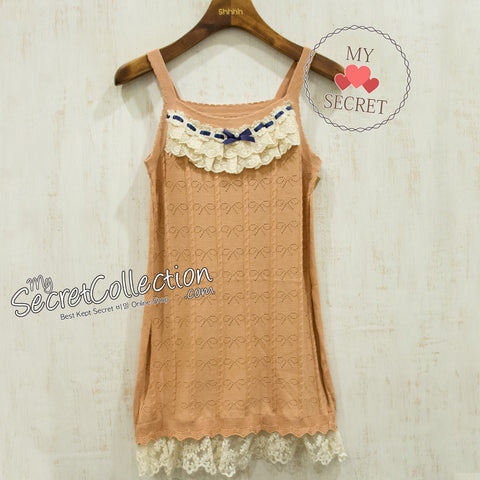 Tank Top Rajut Pita - Chocolate
