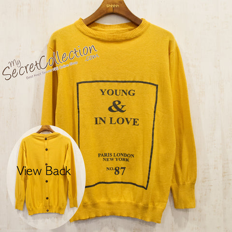 Sweater Rajut YOUNG & IN LOVE - Pumpkin
