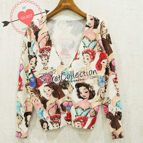 Cardigan Print USA Girl - Usa Girl