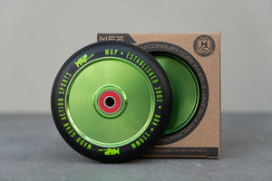 110MM CORRUPT WHEEL GREEN. 2 PACK