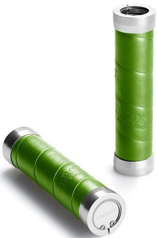Brooks Slender Leather Grips 130mm & 130mm Apple Green