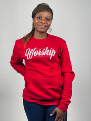 WORSHIP POCKET SWEATSHIRT (RED)