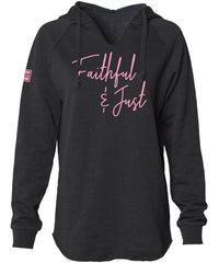 FAITHFUL & JUST HOODED PULLOVER (BLACK)