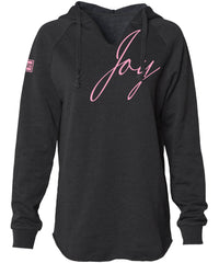 JOY HOODED PULLOVER (BLACK)