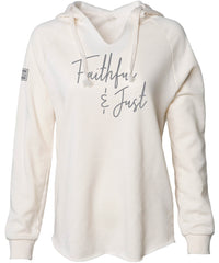 FAITHFUL & JUST HOODED PULLOVER (BONE)