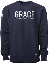 GRACE ELEVATED CREW (NAVY & WHITE)