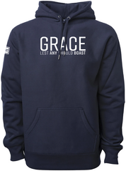 GRACE ELEVATED HOODIE (NAVY & WHITE)