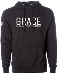 GRACE LIGHTWEIGHT HOODIE (BLACK & WHITE)