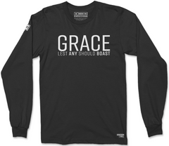 GRACE LONG SLEEVE T-SHIRT (BLACK SUEDE & WHITE)