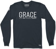 GRACE LONG SLEEVE T-SHIRT (MIDNIGHT NAVY & WHITE)