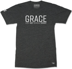GRACE T-SHIRT (CHARCOAL & WHITE)