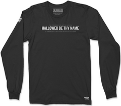 HALLOWED BE THY NAME LONG SLEEVE T-SHIRT (BLACK SUEDE)