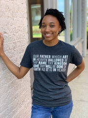 LORD'S PRAYER T-SHIRT (CHARCOAL)