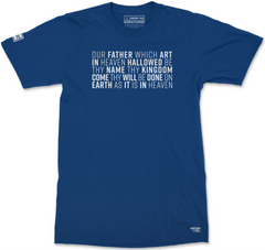 LORD'S PRAYER T-SHIRT (ROYAL)