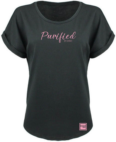 PURIFIED BY CHRIST DOLMAN (BLACK & PINK)
