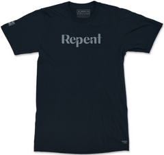 REPENT T-SHIRT (MIDNIGHT NAVY & EASY BLUE)