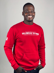 HALLOWED BE THY NAME POCKET SWEATSHIRT (RED)
