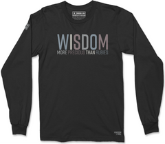 WISDOM LONG SLEEVE T-SHIRT (BLACK SUEDE)