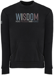 WISDOM POCKET SWEATSHIRT (BLACK)