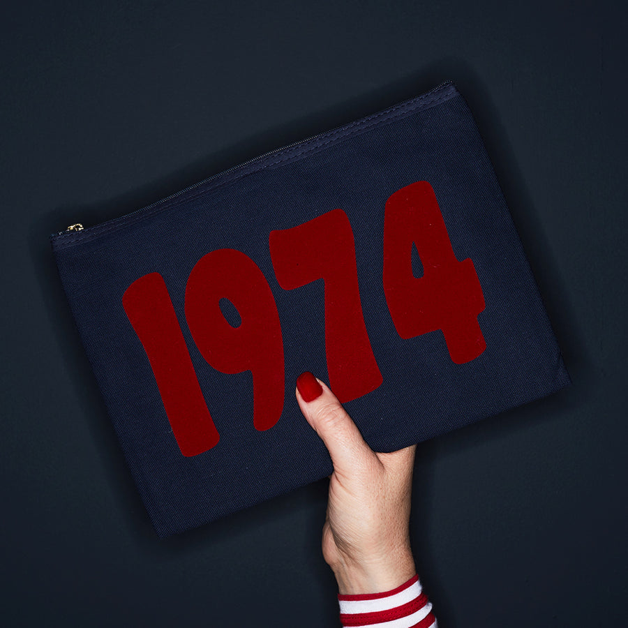 YEAR PURSE - NAVY/RED