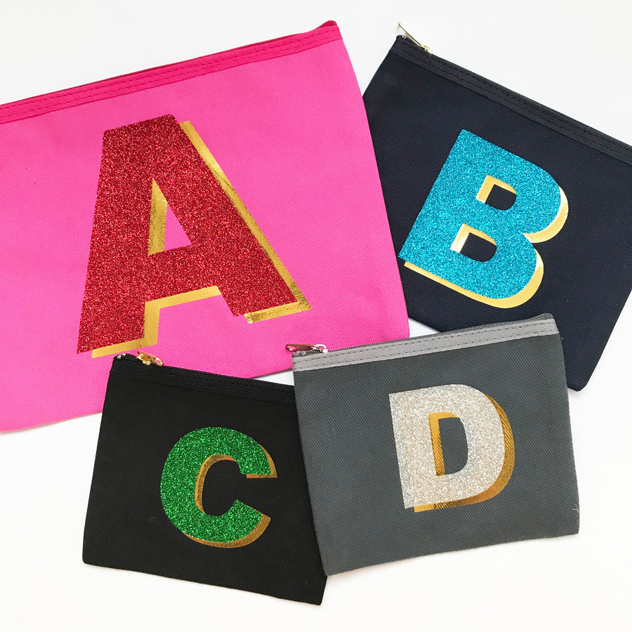 3D ALPHABET PURSE - PINK/RED