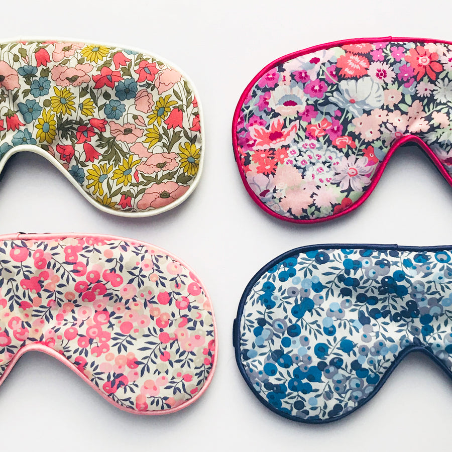 LIBERTY FLORAL INITIAL EYE MASK - BLUE
