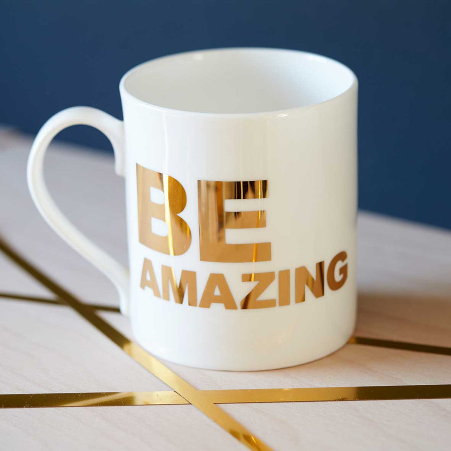 'BE AMAZING' GOLD MUG