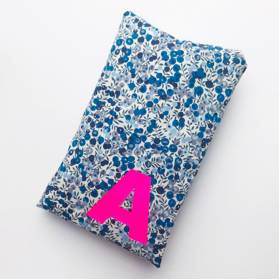LIBERTY INITIAL CUTE HOT WATER BOTTLE - BLUE