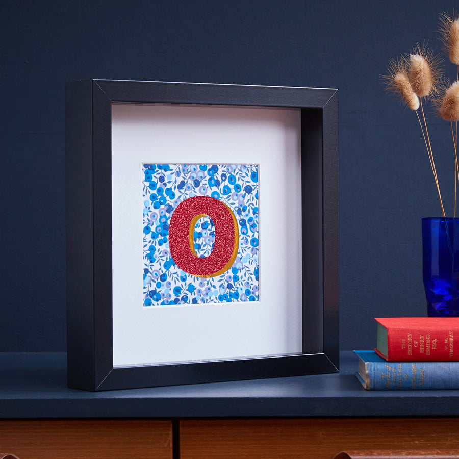 PERSONALISED BLUE LIBERTY FRAMED PICTURE