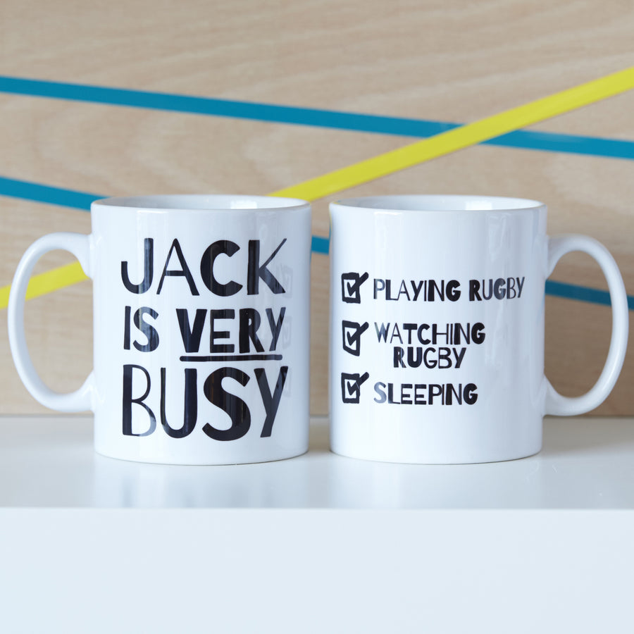 PERSONALISED 'VERY BUSY' TEENAGER MUG