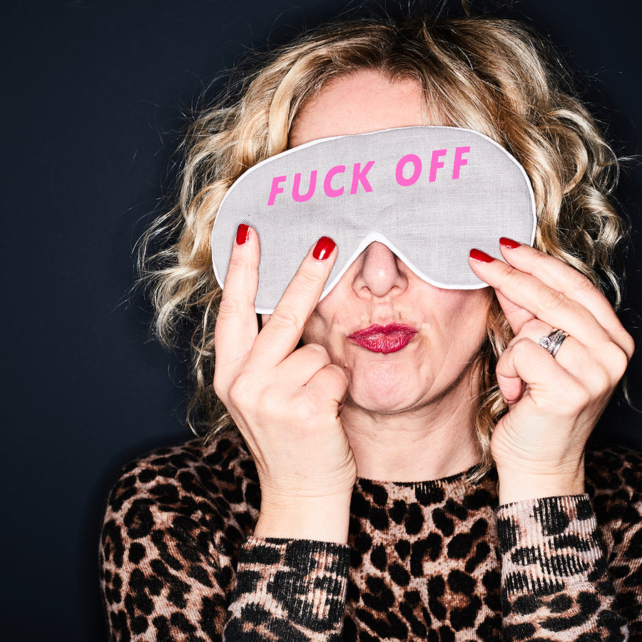 'F**K OFF' LINEN EYE MASK