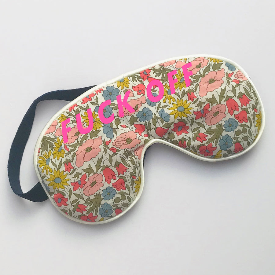 'F**K OFF' EYE MASK - LIBERTY MULTI