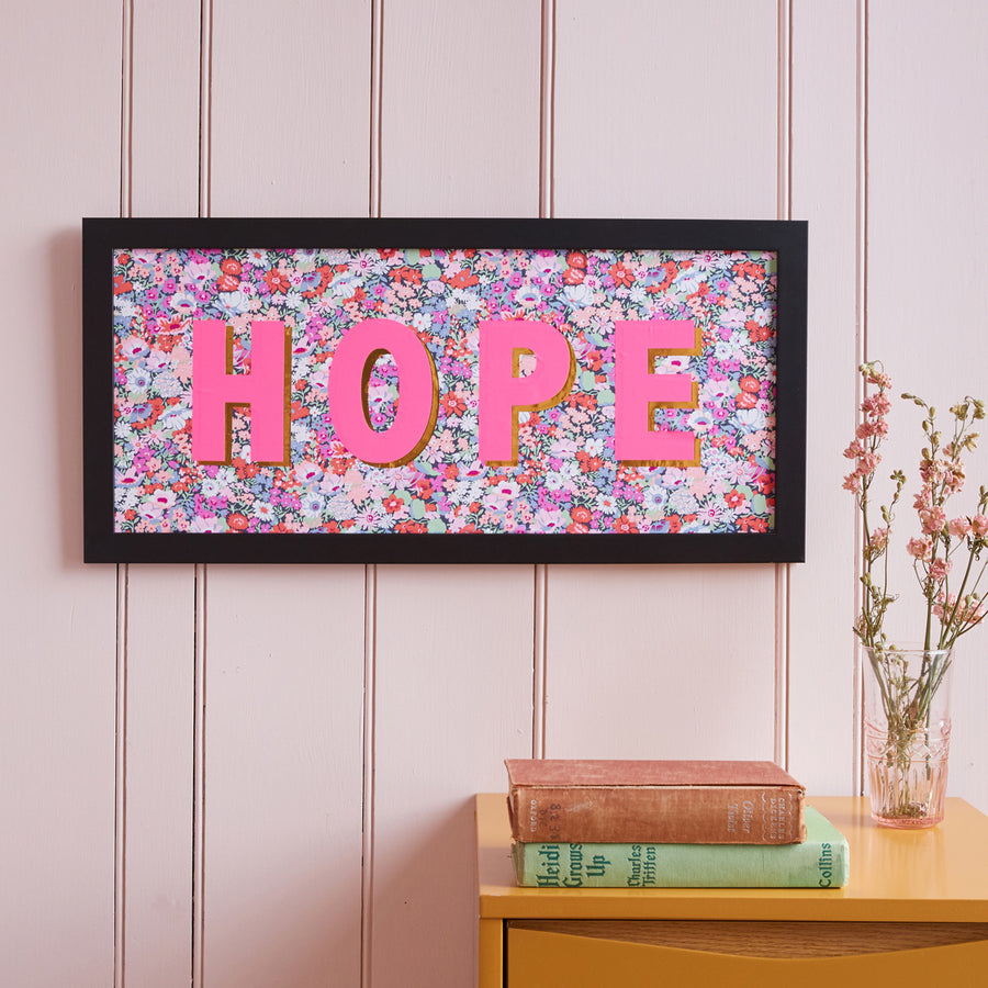 PERSONALISED PINK LIBERTY FRAMED PICTURE