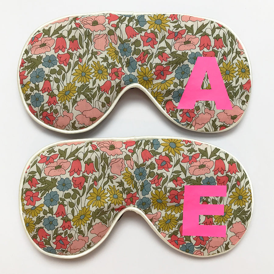 LIBERTY FLORAL INITIAL EYE MASK - MULTI