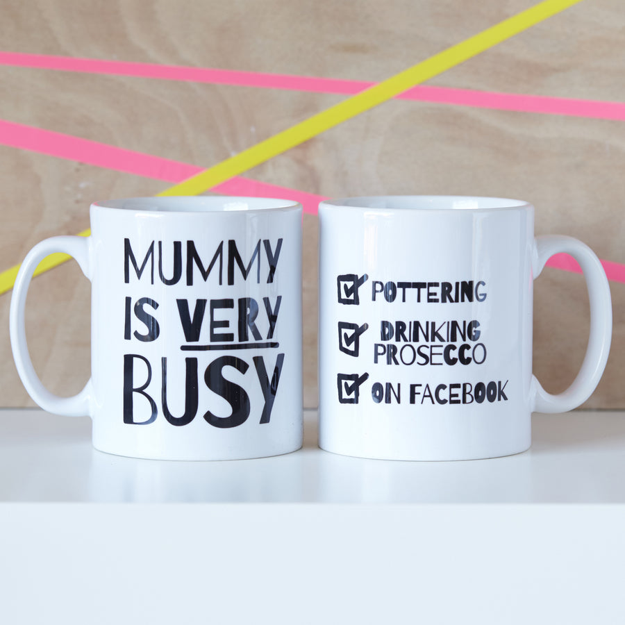 PERSONALISED 'VERY BUSY' MUMMY MUG