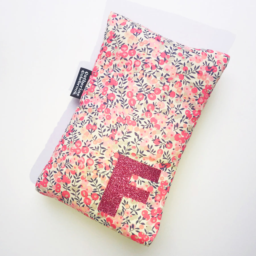 LIBERTY INITIAL CUTE HOT WATER BOTTLE - PEACH
