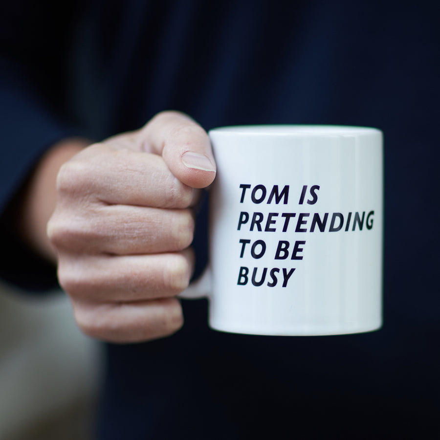 PERSONALISED PRETENDING TO BE BUSY MUG