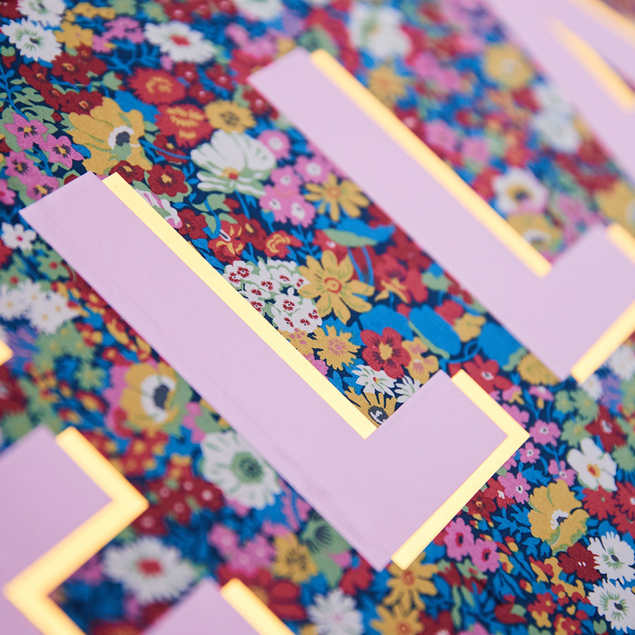 DARK PINK LIBERTY FRAMED INITIAL Picture